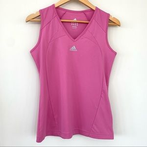 Adidas athletic top with v-neck